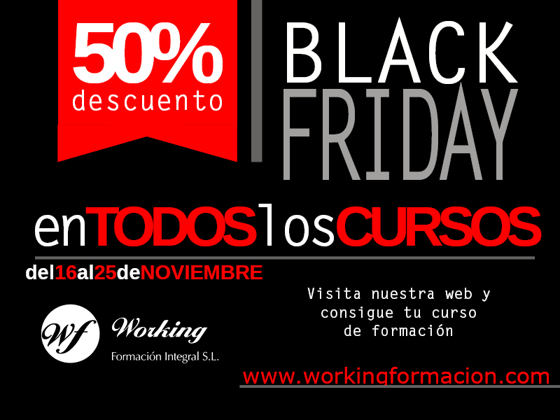 Black Friday en Working Formación Integral